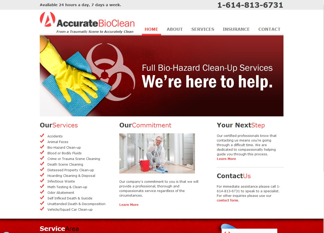 Accurate Bio Clean home page website