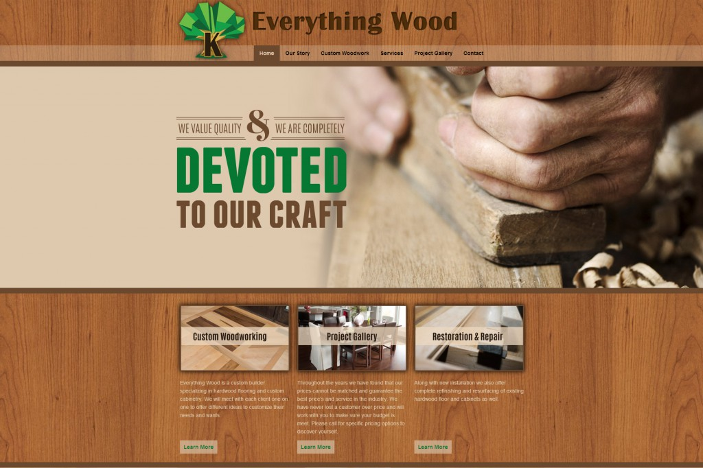 New Website Design And Launch Everything Wood Robintek