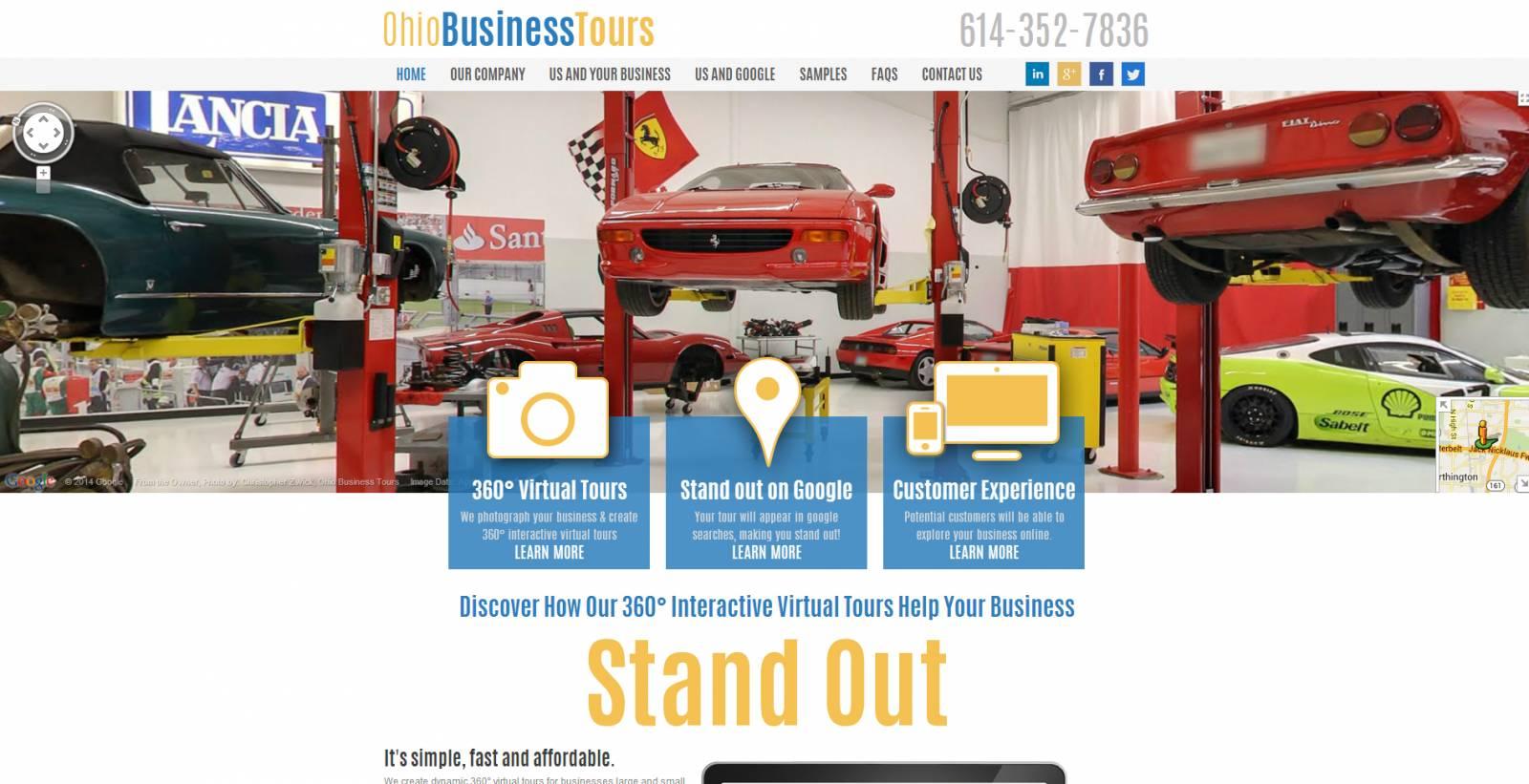 Ohio Business Tours Home page Website Robintek