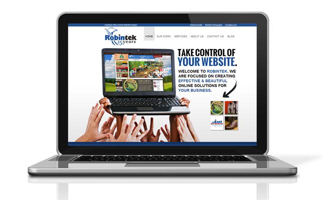 Robintek Home page computer website