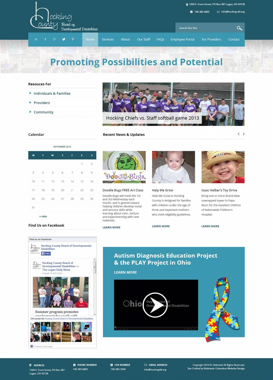 Website Launch Hocking County Board of Developmental Disabilities