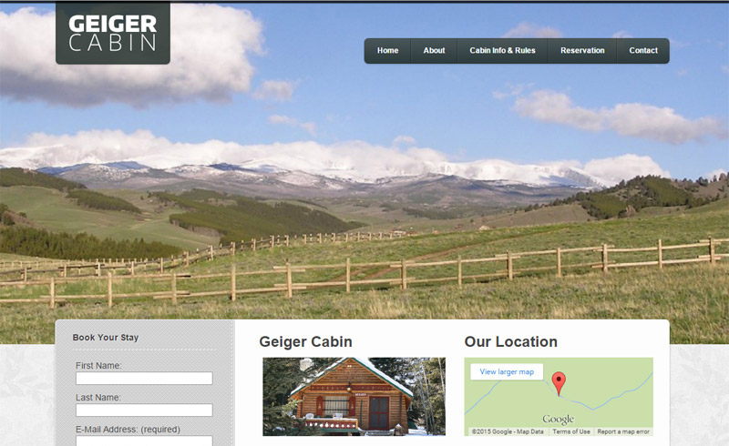 Geiger Cabin website launch