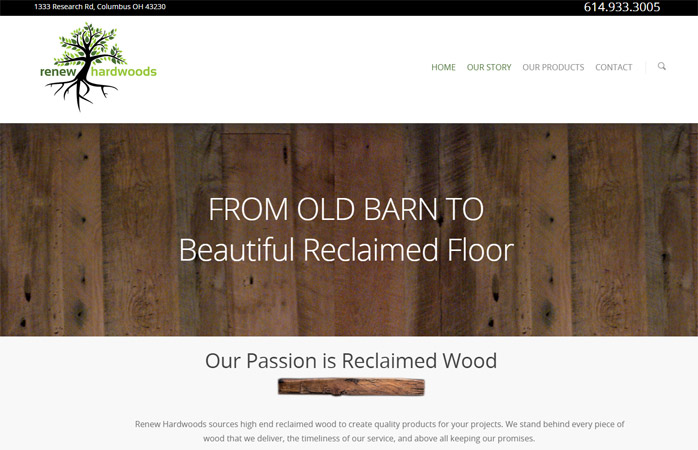 renew hardwood website launch