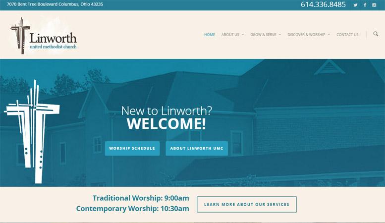 Linworth United Methodist Church Website Design