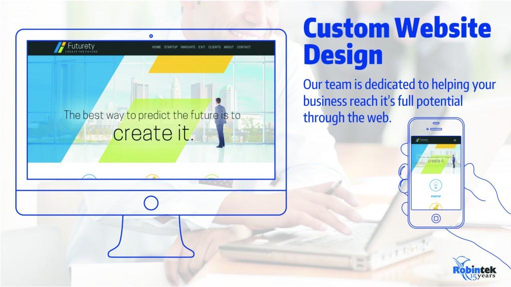 Robintek custom website Design