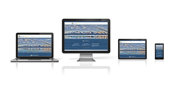 computer, laptop, mobile phone and digital tablet pc responsive layout design