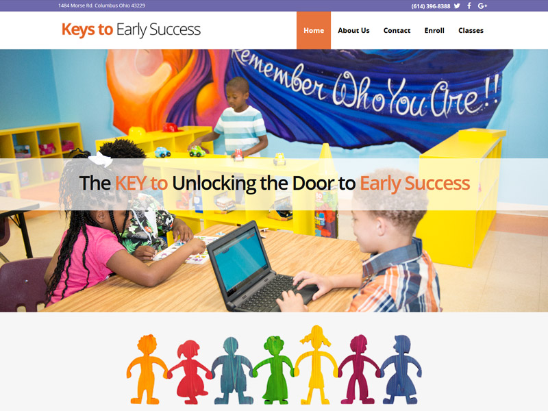 Keys to Early Success Daycare Website Design