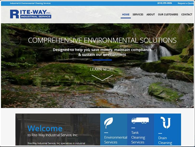 Rite-way Industrial website design and launch