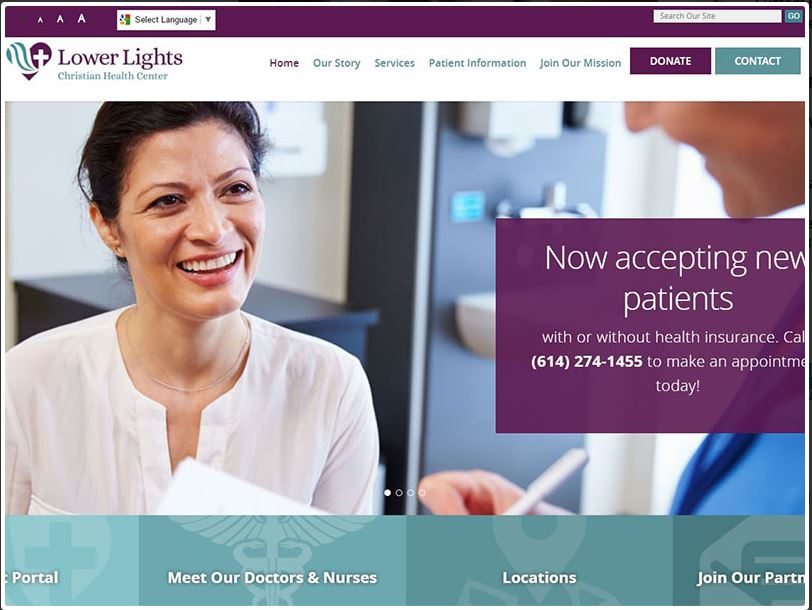 Lower Lights Christian Health Center website design and launch