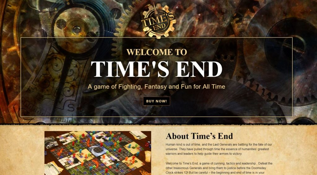 time's end board game