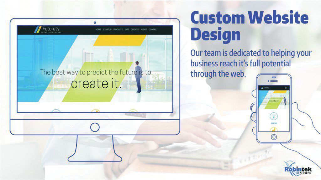 Robintek custom website Design