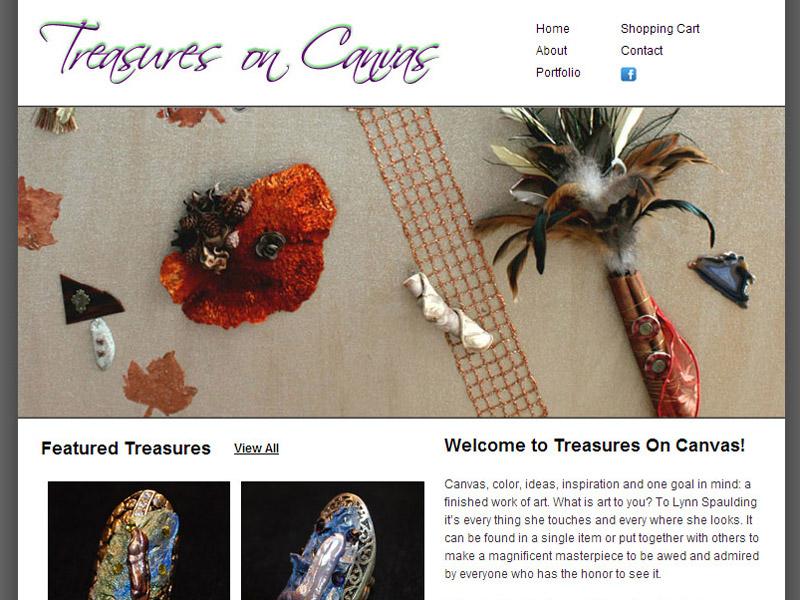 treasures on canvas ecommerce website design