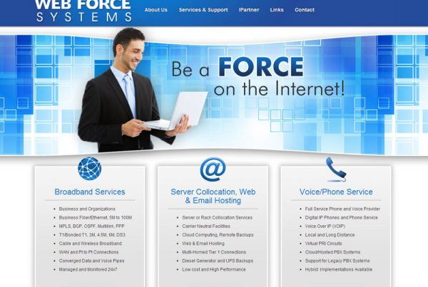 WebForce Systems a business website for internet service provider and system integrator