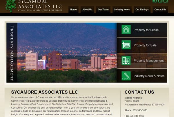 Sycamore Associates - Real-Estate Website