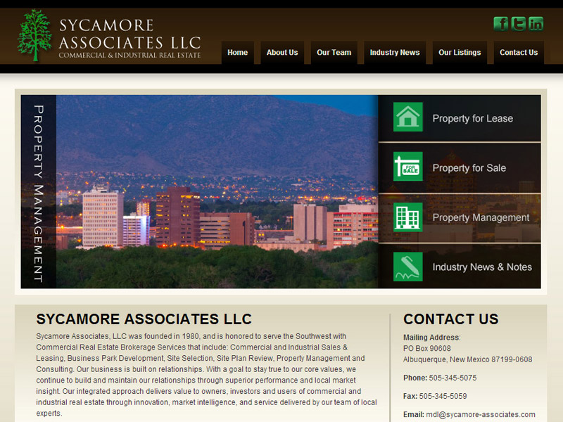 Sycamore Associates - Real-Estate Website