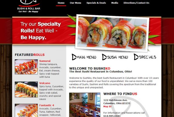 SushiKo – restaurant website