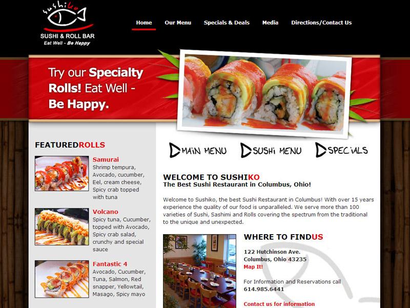 SushiKo – restaurant website