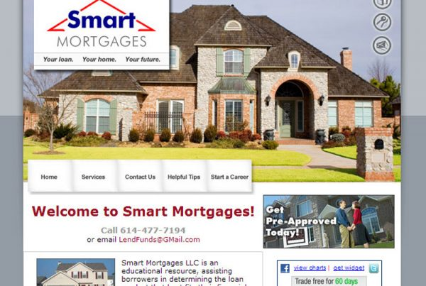 Smart Mortgages business design website