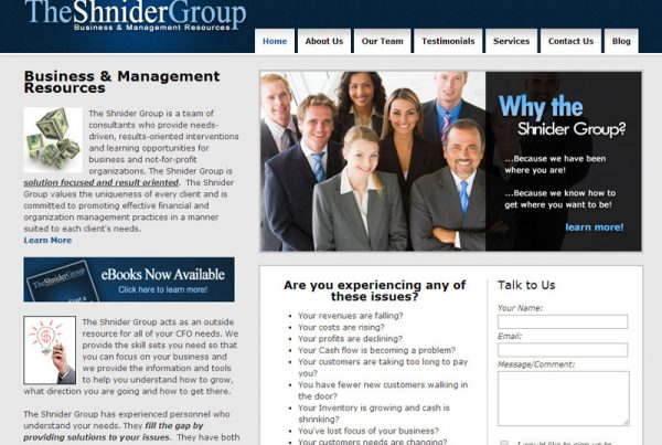 The Shnider Group Business management resources website