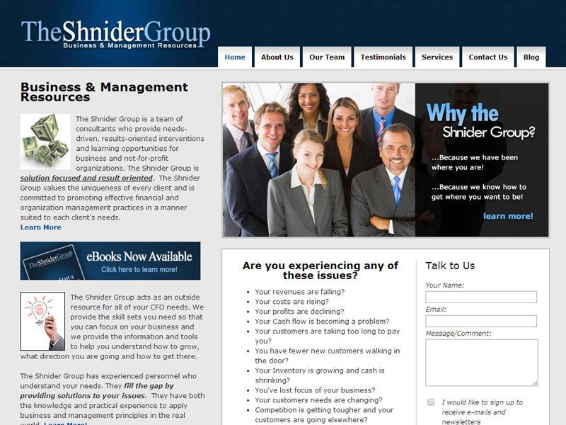 The Shnider Group Business management resources website