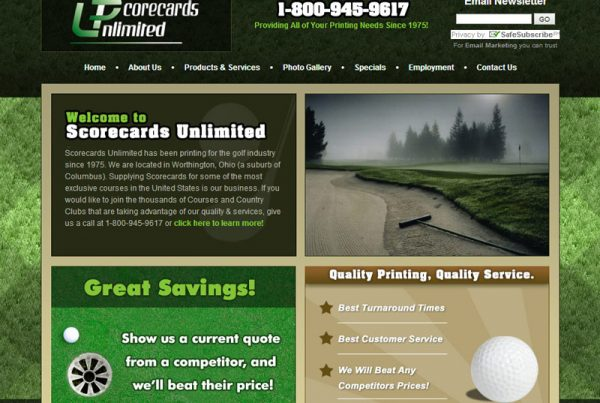 Scorecards Unlimited business website