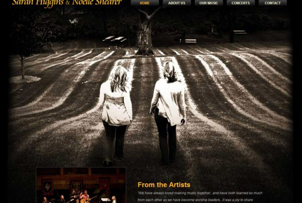 Sarah & Noelle music website