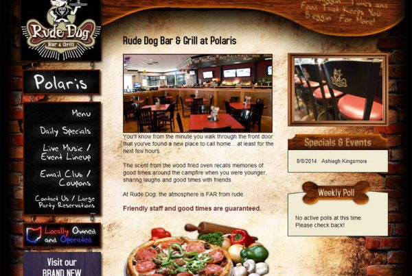 Rude Dog Bar & Grill restaurant website