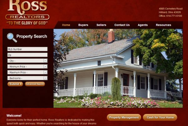 Ross Realtors real-estate website