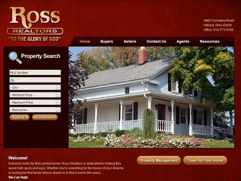 Ross Realtors real-estate website