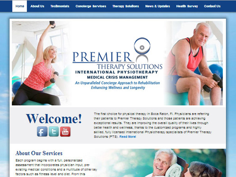 Premier Therapy Solutions – international physiotherapy website