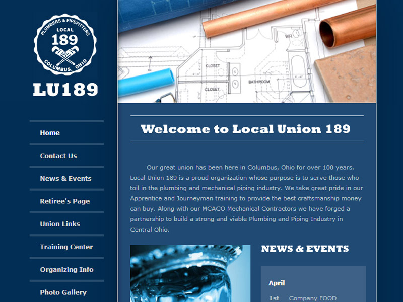 Plumbers & Pipefitters Local Union 189 union website
