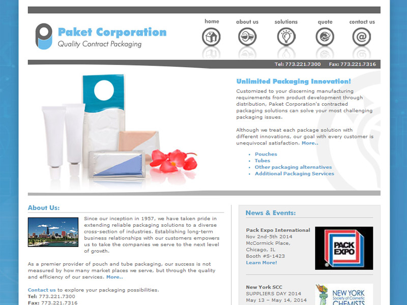 Paket Corporation reliable packaging solutions Manufacturing Website Build