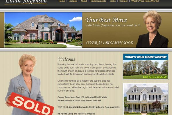 Lilian Jorgenson real-estate website