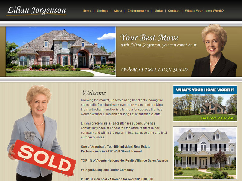 Lilian Jorgenson real-estate website