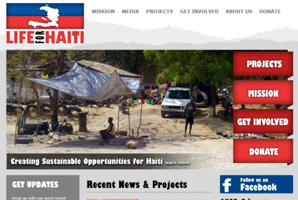 Life For Haiti - Charity & Fundraising Website