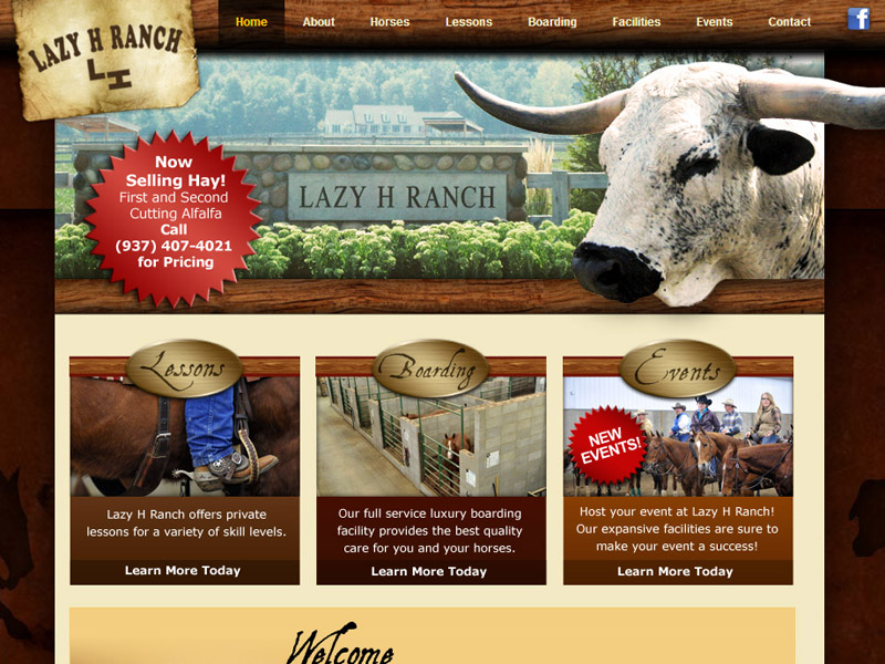 Lazy H Ranch – Business website