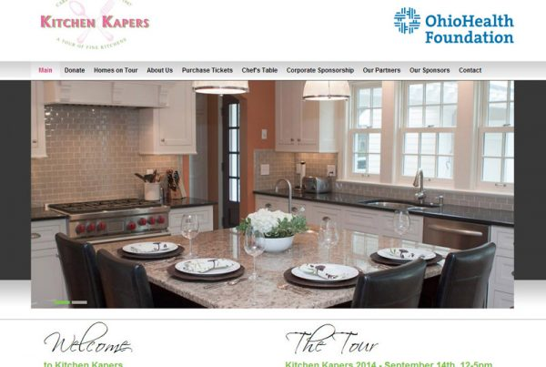 Kitchen Kapers - Charity & Fundraising Website