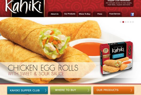 Kahiki Foods, INC. – Frozen Food Website