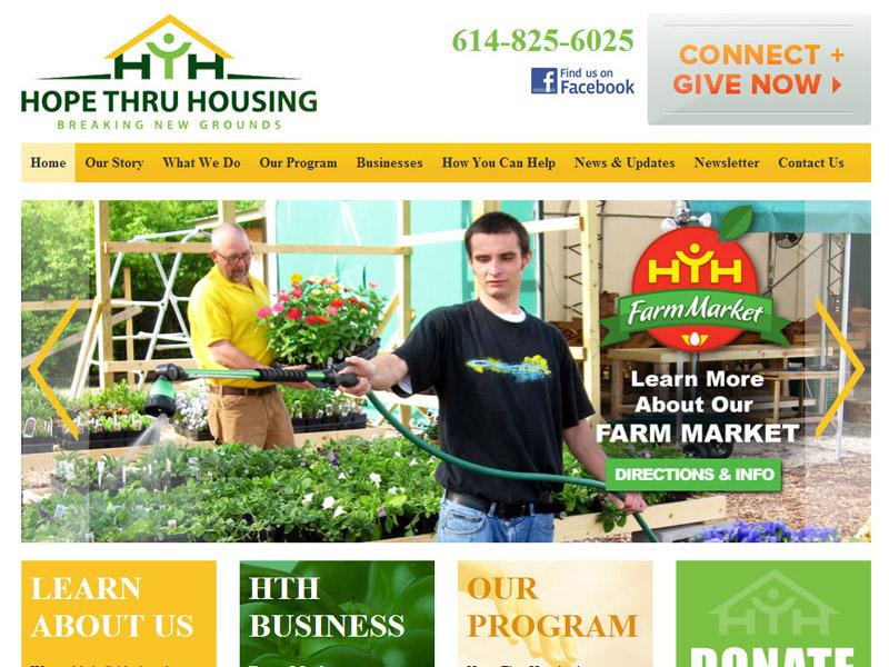Hope Thru Housing - Treatment Center Website