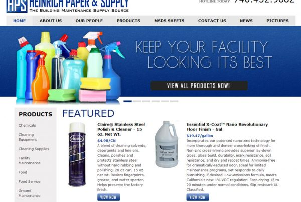Heinrich Paper & Supply - Maintenance Supply Website