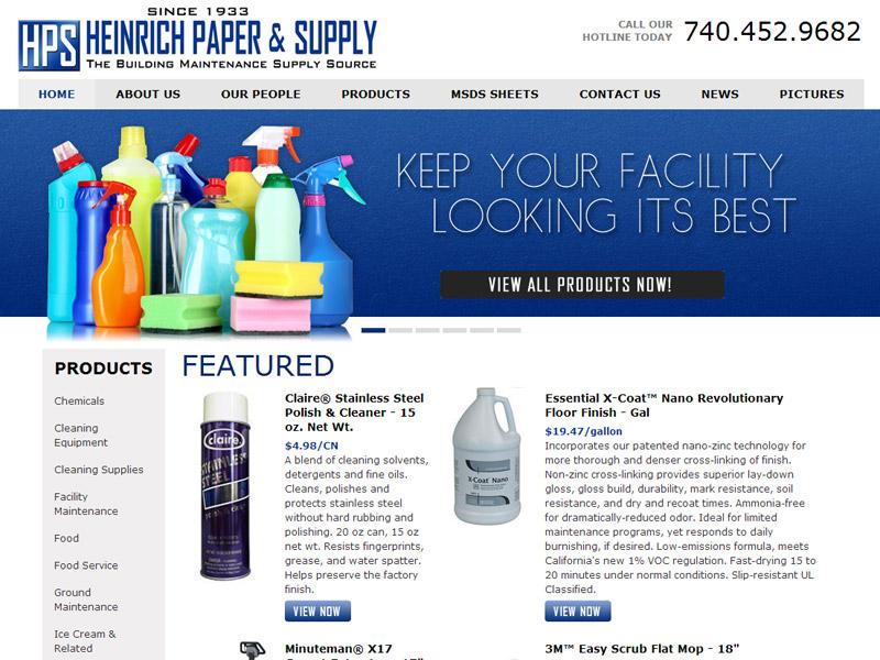 Heinrich Paper & Supply - Maintenance Supply Website