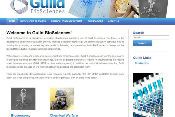 Guild Biosciences - Bioscience Research Website with Product Ordering