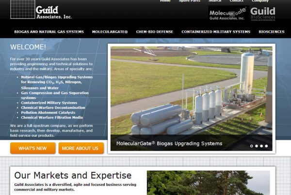 Guild Associates - Engineering Website with Product Ordering