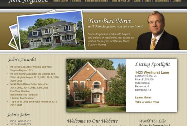 John Jorgenson Realtor Design Website