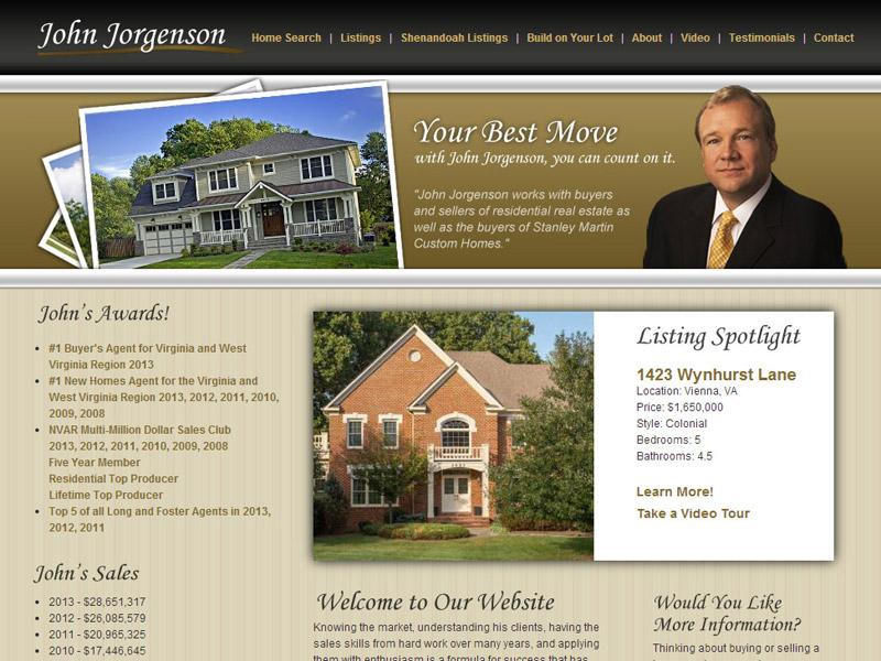 John Jorgenson Realtor Design Website