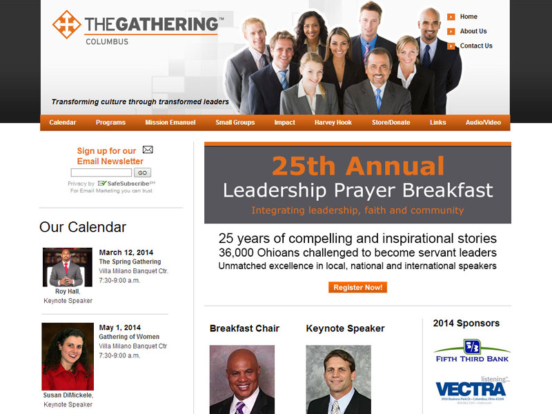 The Gathering Columbus event management website