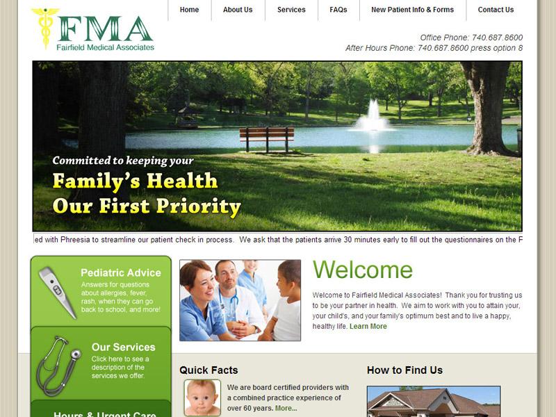 Fairfield Medical-Family Medical Center Website