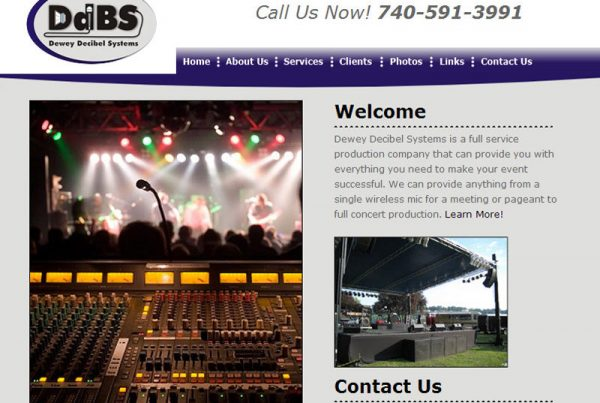 Dewey Decibel Systems full-service production company business website