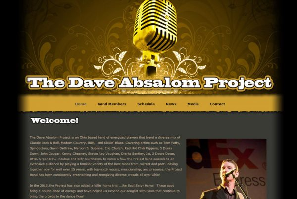 The Dave Absalom Project band design website