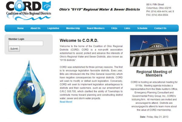 CORD coalition of ohio regional districts non-profit website